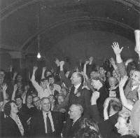 The Spirit of 45 Dogwoof Clem Attlee_Labour Party Victory Night 1945 copyright PeopleÔÇÖs History Museum.jpg